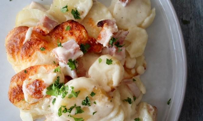 Skinke Og Kartoffel Bake