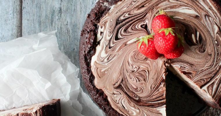 Islagkage Med Chokoladekagebund