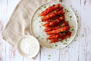 Gulerødder Med Bacon Og Honning - Lækker Snack Eller Tilbehør