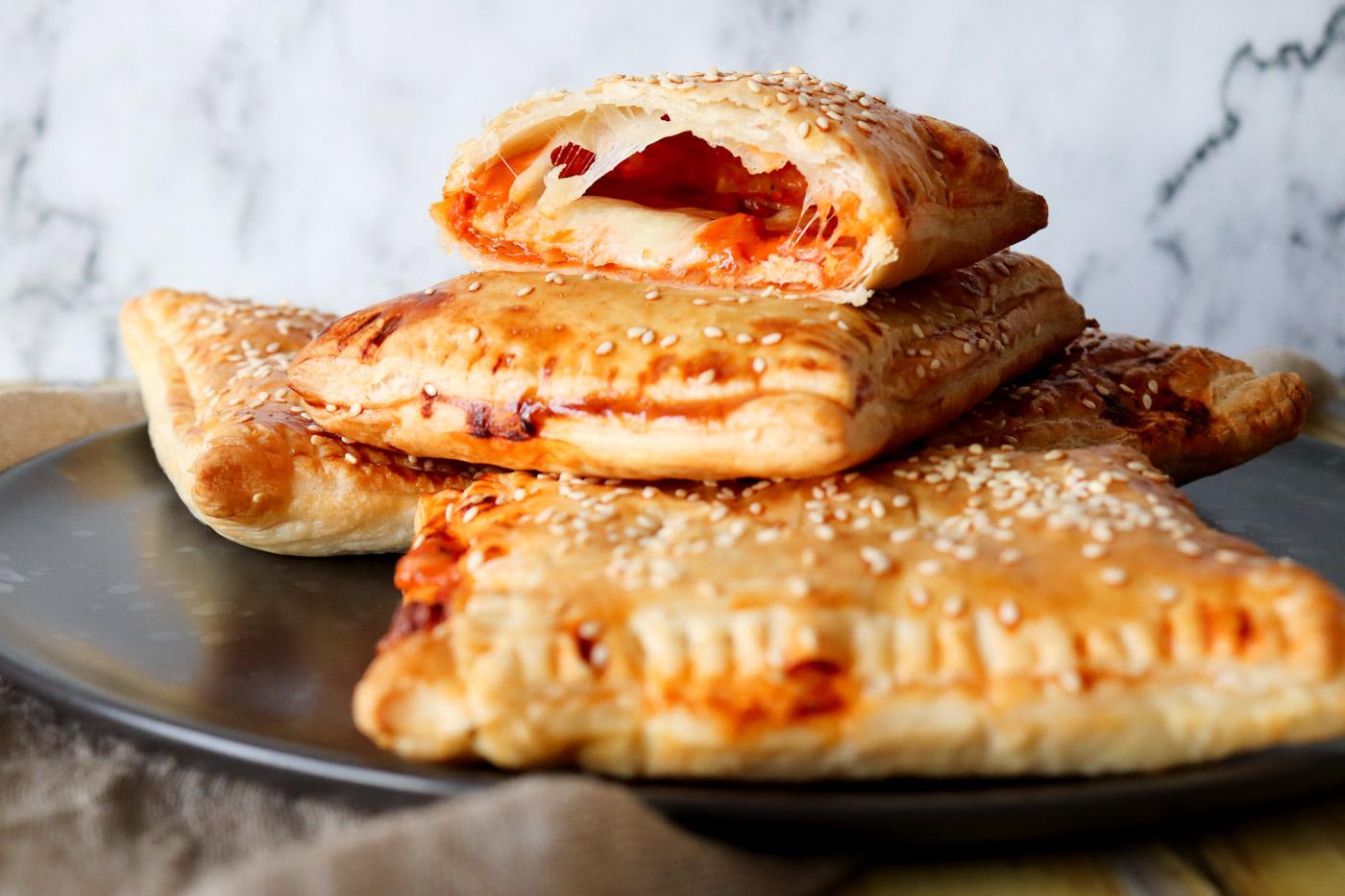 Vegetariske Lunch Bites Som Smager Af Pizza
