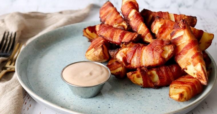 Bacon Kartofler Med BBQ Dip