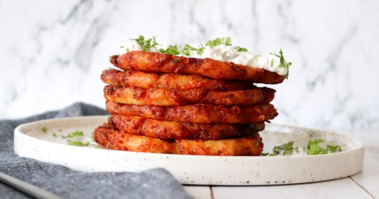Sprøde Kartoffelpandekager Med Cheddar