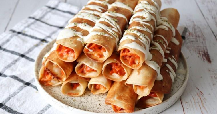 Sprøde Pizza Taquitos