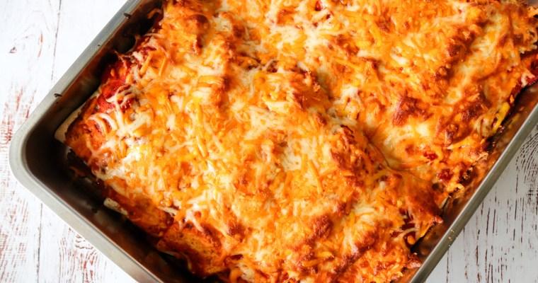Enchiladas – Lækre Tortillas Med Pulled Pork, Grøntsager Og Ost