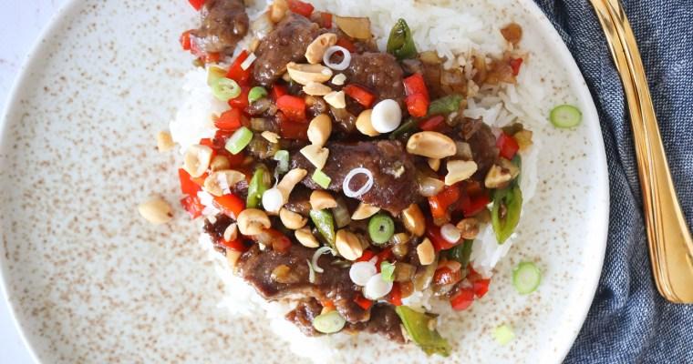 Mongolian Beef Med Grøntsager – Steak Strimler I Sauce Med Grøntsager