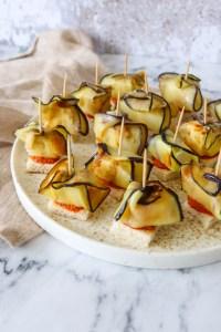 Fetahapsere Med Brød, Pesto Og Stegt Aubergine - En Lækker Snack