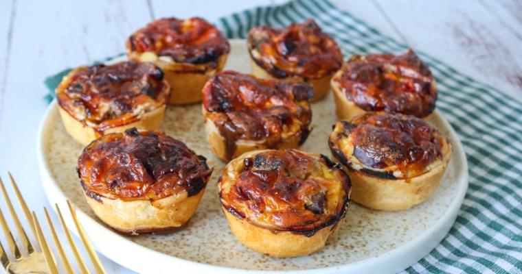 Mini Tærter Med Steak, Peberfrugt Og Løg – Mini Tærter Med Oksekød