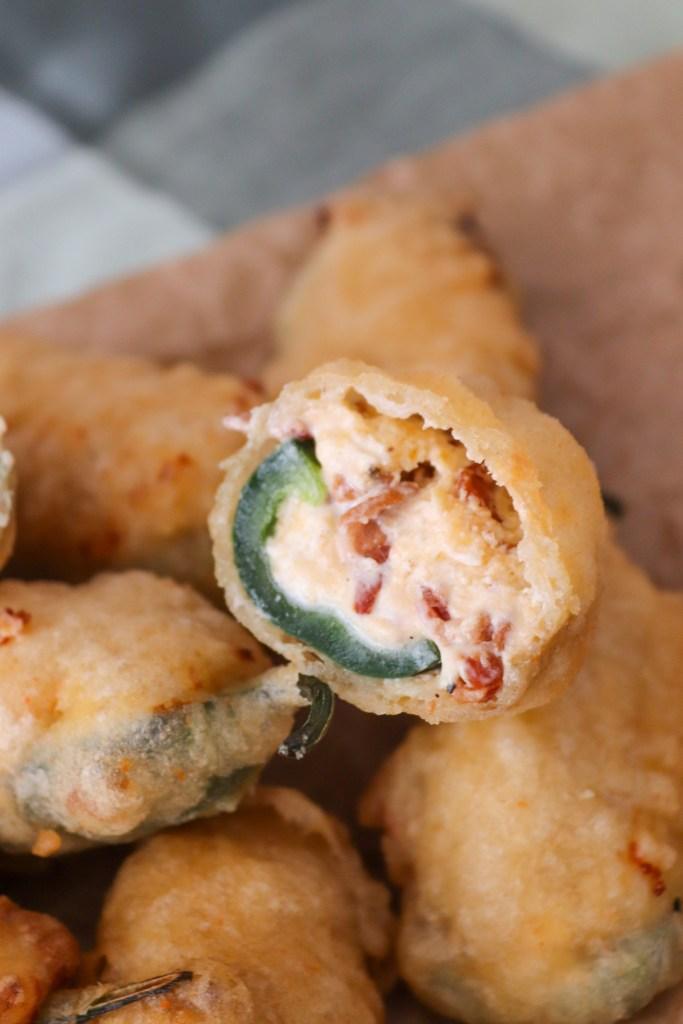 Jalapeños Popper - Fyldte Jalapeños Med Flødeost, Cheddar Og Bacon