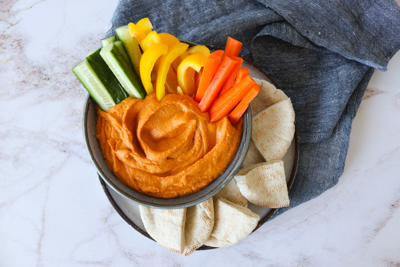 Hummus Med Bagt Peberfrugt – Opskrift På Hummus
