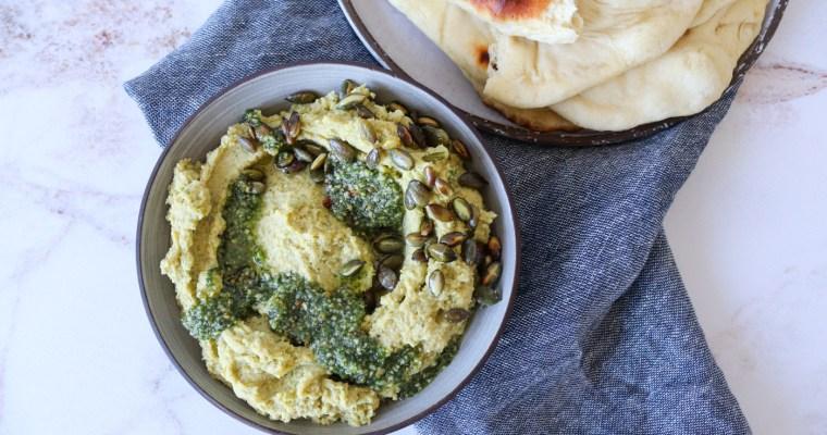 Kikærtedip Med Græskarkernepesto – Opskrift På Kikærtecreme