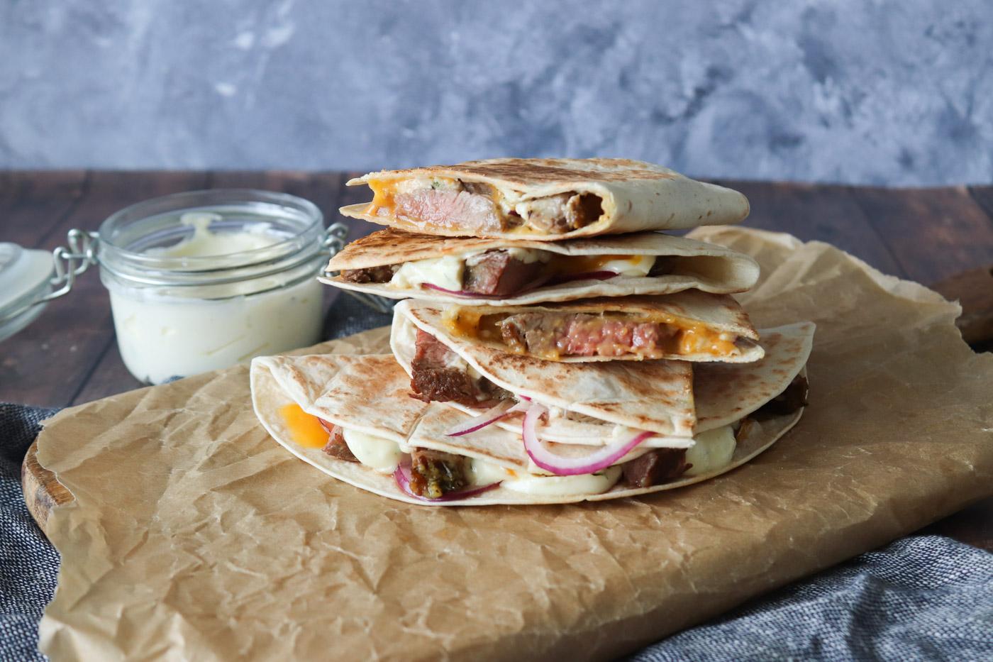 Quesadillas Med Oksekød Og Bearnaise