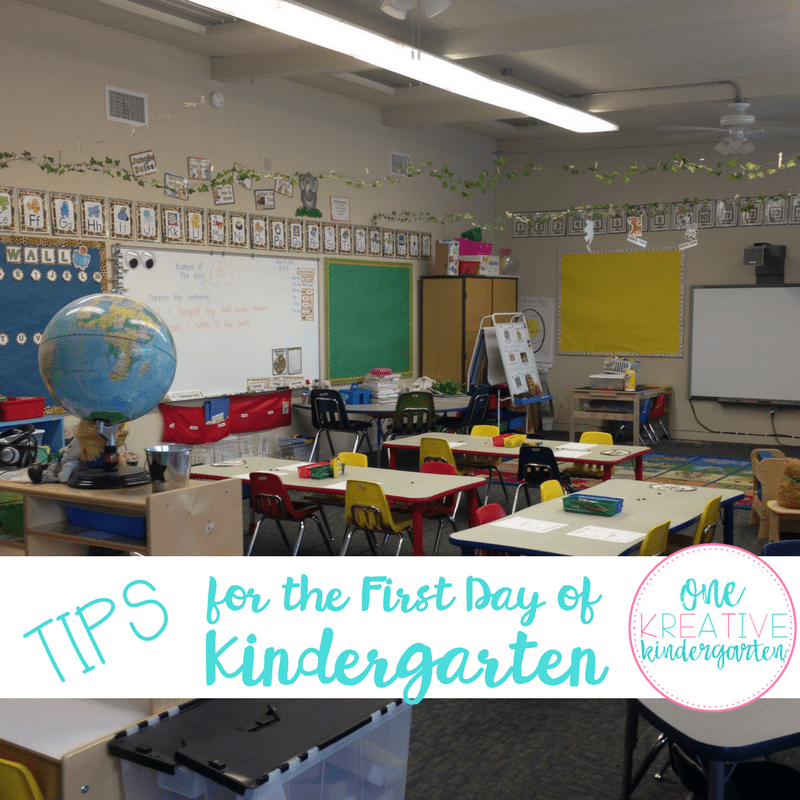 Tips for the First Day of Kindergarten