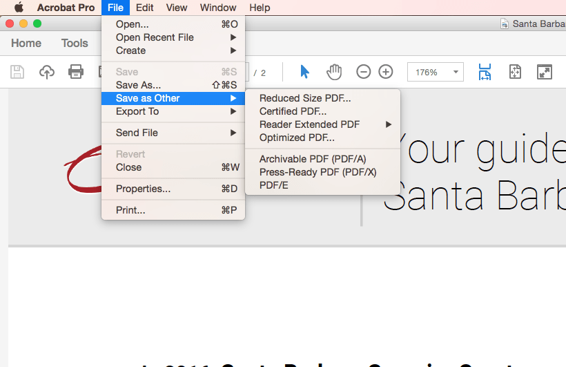 How to save as a reduced size PDF