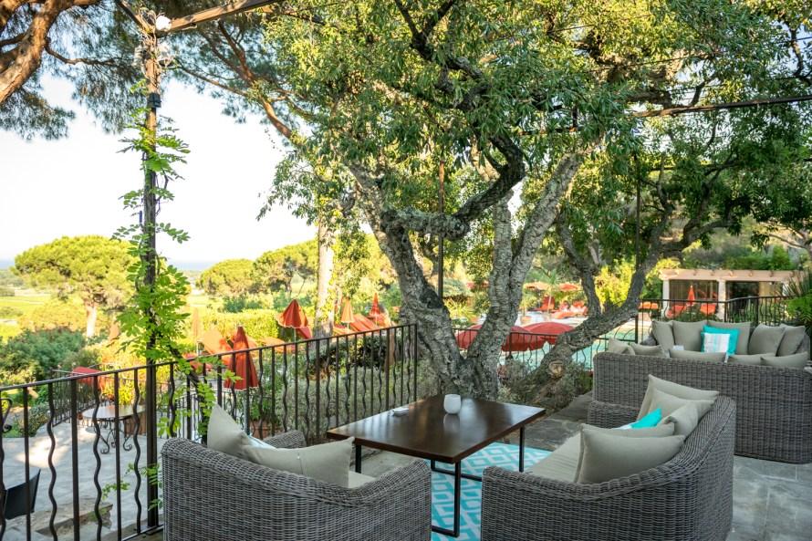 outdoor lounge at Villa Marie Saint Tropez