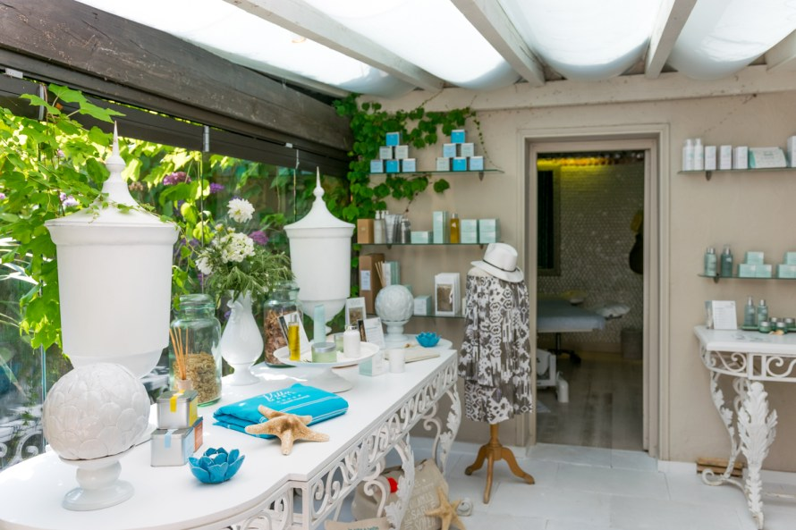 spa amenities displayed at a spa