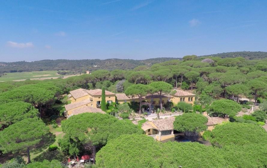drone aerial photo of Villa Marie Saint Tropez France