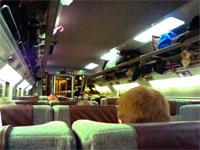 On a Eurostar train