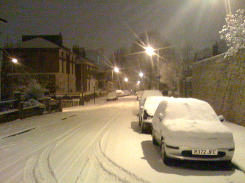 Snow in Lewisham