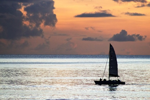 Sailing a Caribbean Sunset