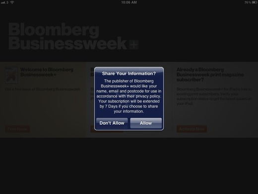 Bloomberg Businessweek app