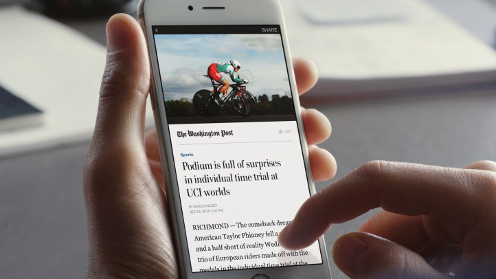 Instant articles in use