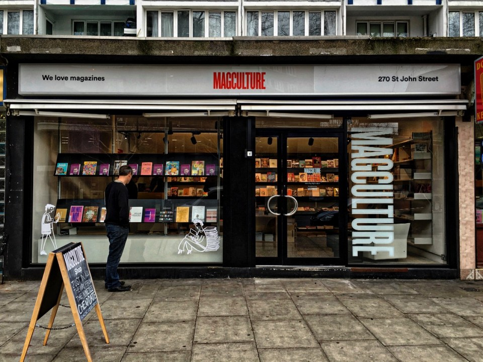 The Magculture shop on St John Street, London