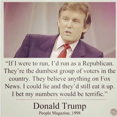 Donald trump quote in people magazine circa 1998