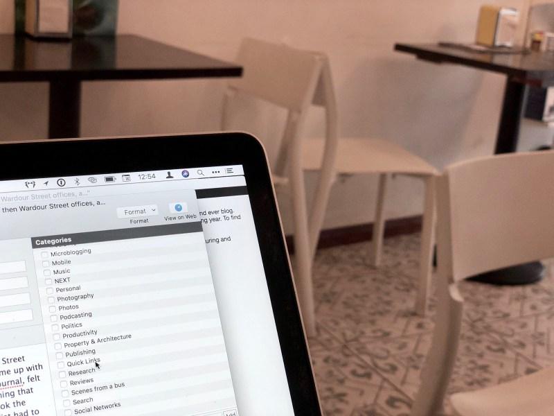 Blogging away