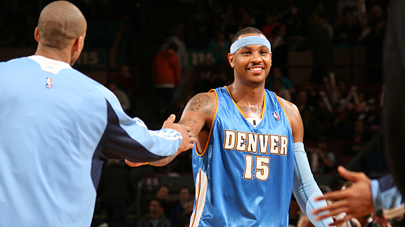 Carmelo Anthony to New Jersey was not accepted by the Denver Nuggets,