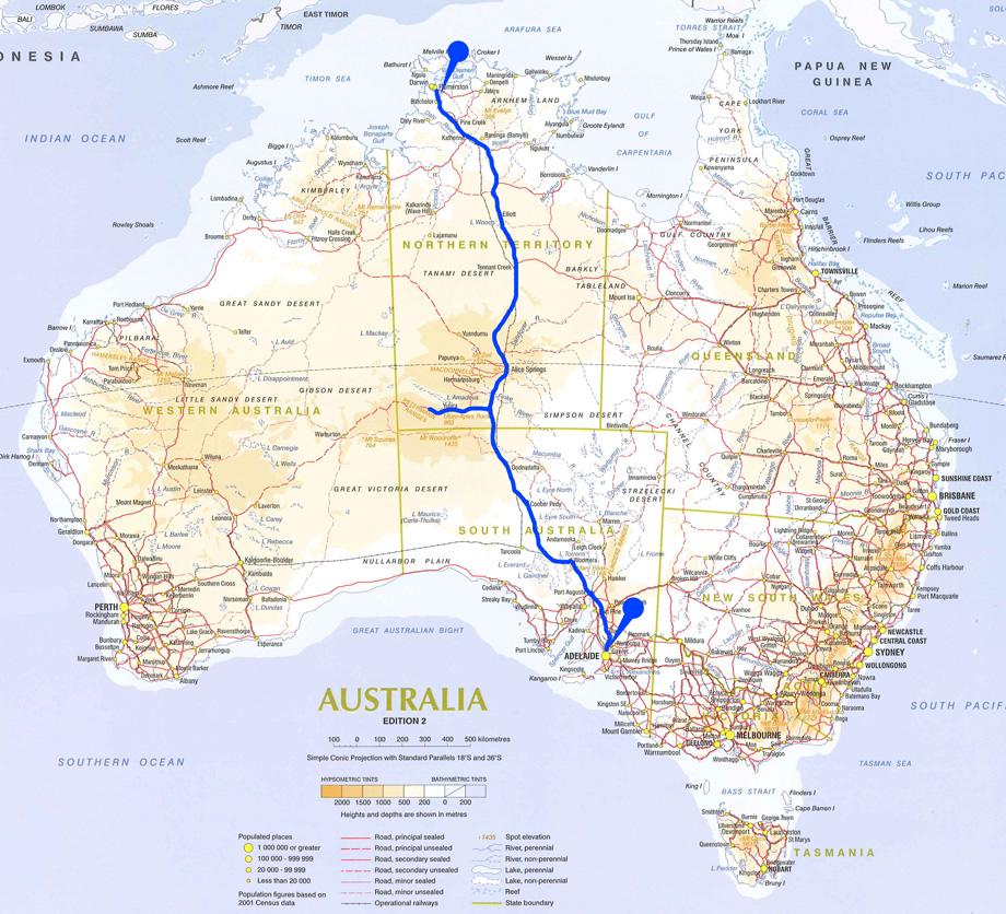 map asutralia