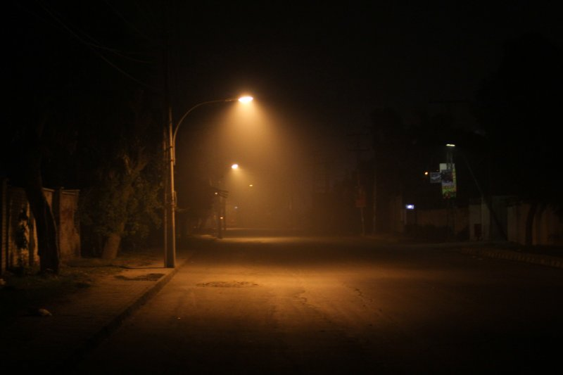 Foggy atmosphere in Multan