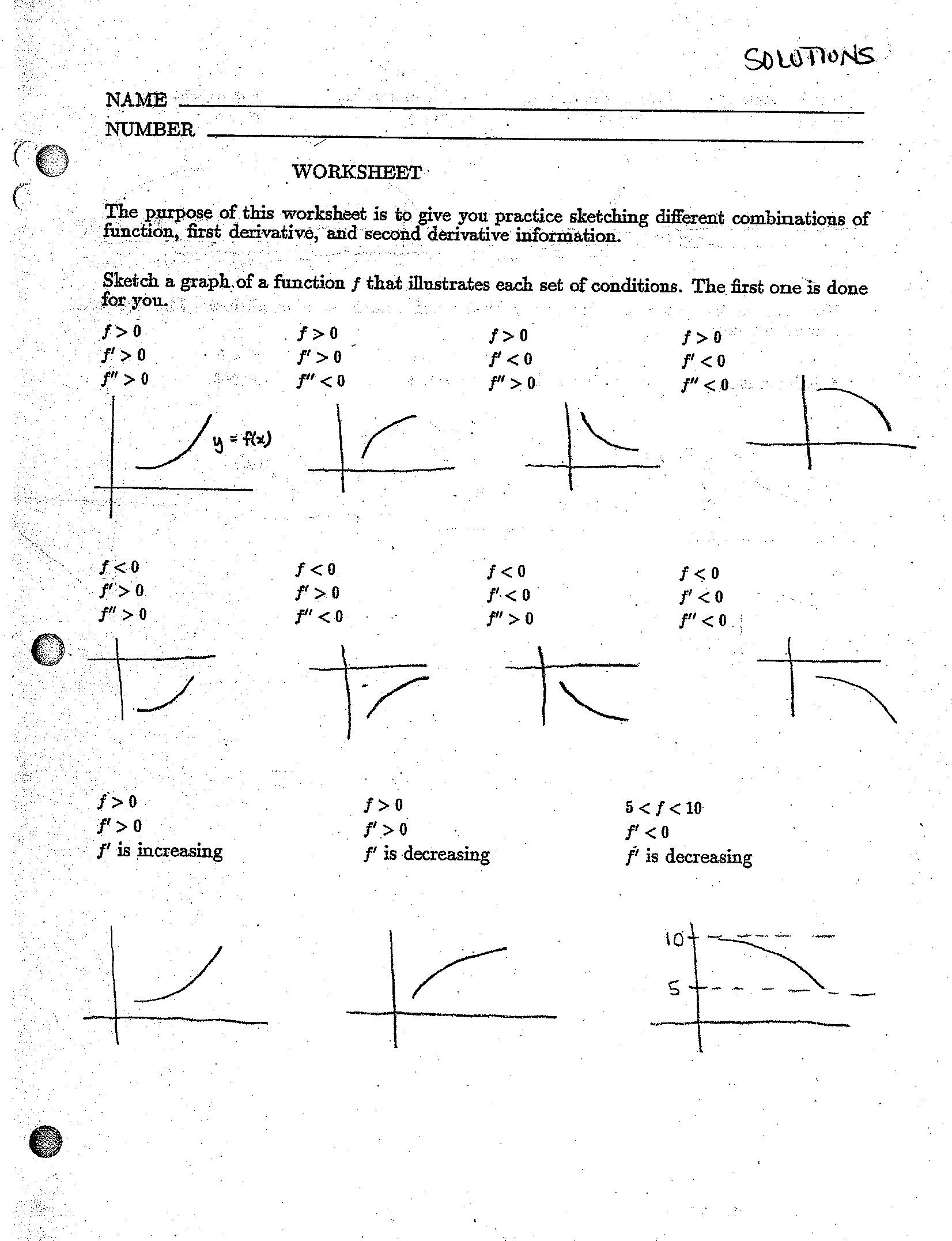 Derivatives Practice Worksheet
