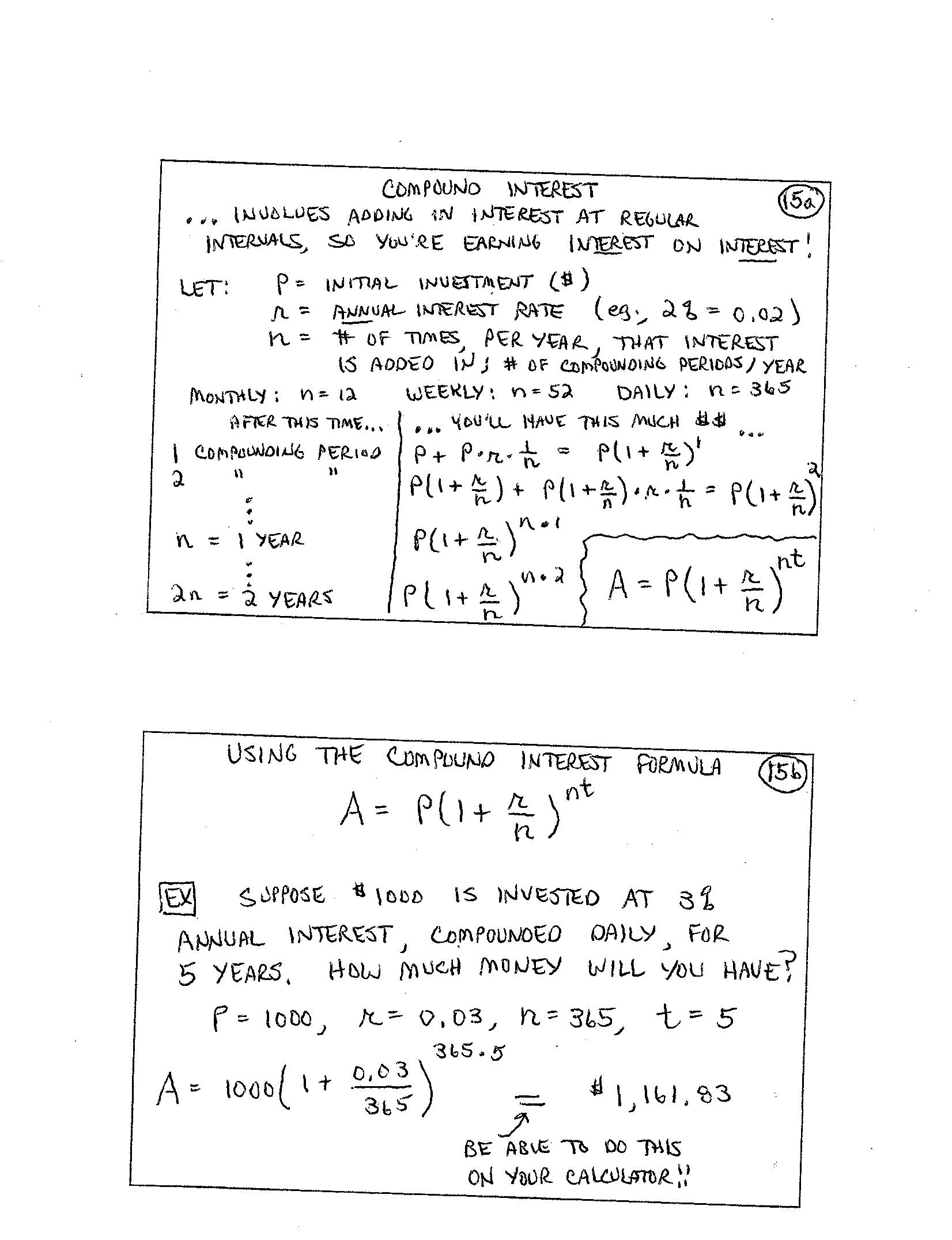 Finite Math Examples
