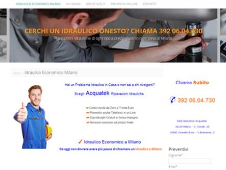 esempio di sito per idraulico