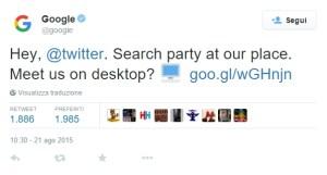tweet di google