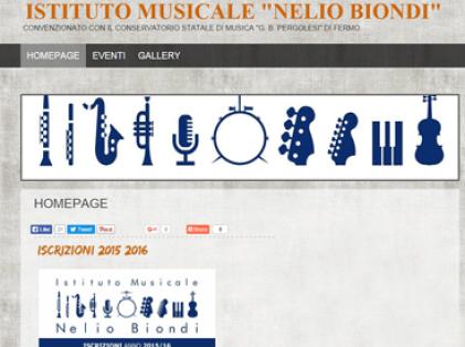 esempio di sito per gruppi musicali