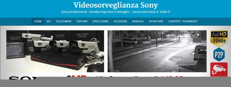 videosorveglianza sony