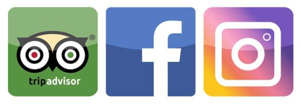 loghi tripadvisor facebook e instagram