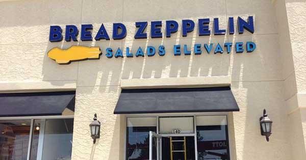 insegna ristorante bread zeppelin