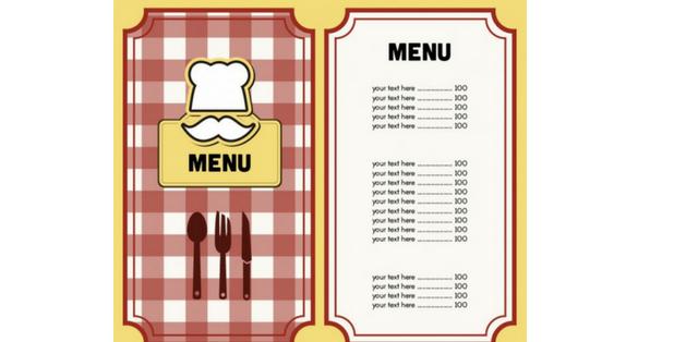 creare menù ristorante
