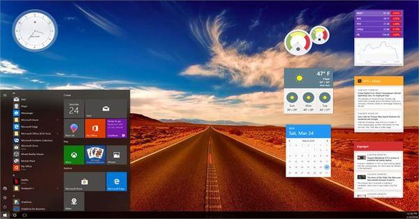 schermata widget desktop