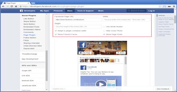 schermata web widget