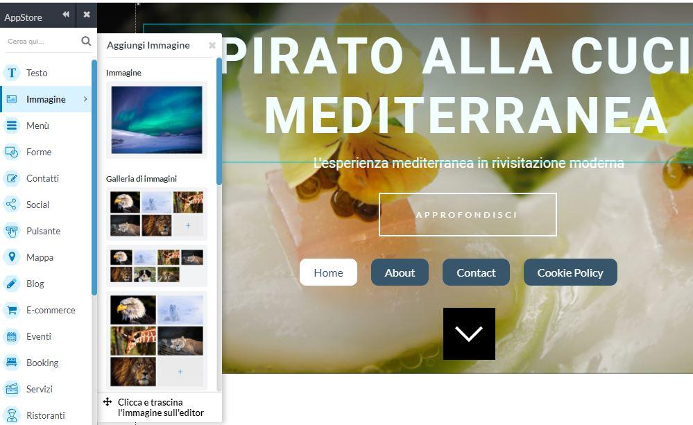 creare un sito web con one minute site 2.0 immagini