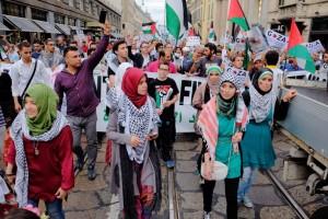 dimostrazione pro Palestina