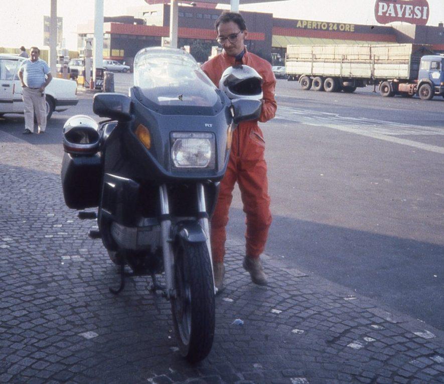 Alberto Biraghi e la BMW K 100