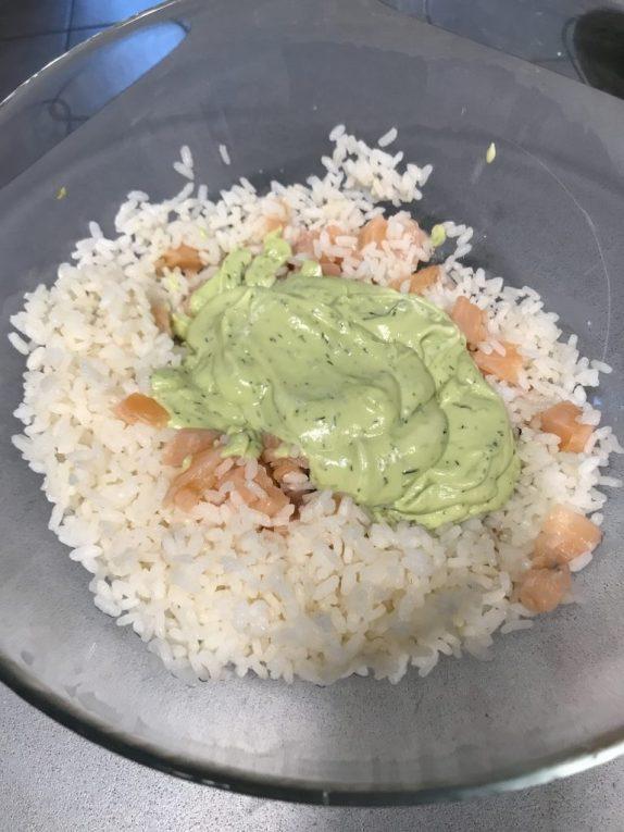 Riso salmone e avocado