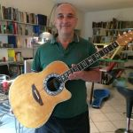 Alberto Biraghi with his Ovation custom Legend