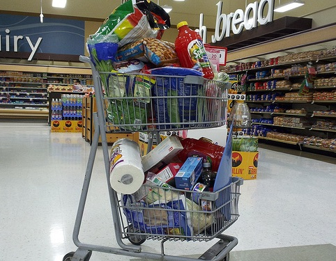save money on groceries and control overloading your shopping cart