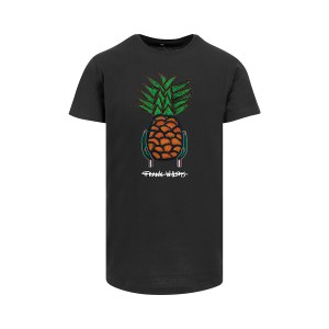 ONE AND ONE MAKES TWO - Longfit T-shirt - Pineapple - BLK