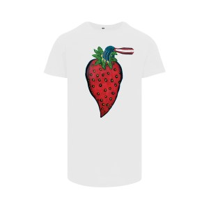 ONE AND ONE MAKES TWO - Longfit T-shirt - Strawberry - WHT